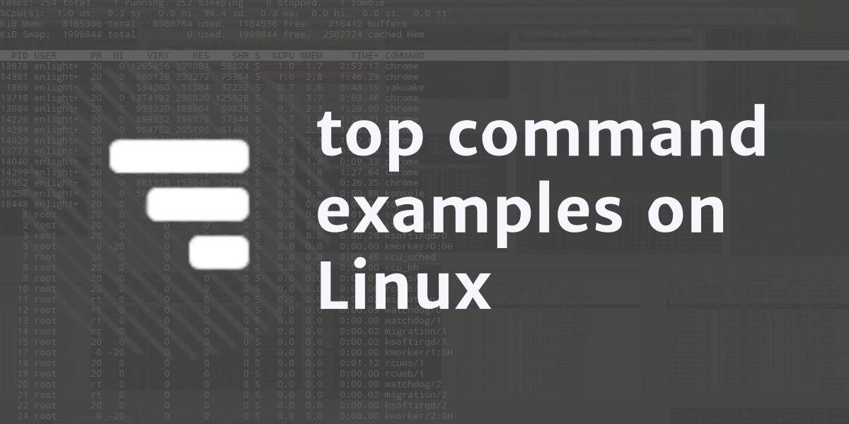 دستور top برای نظارت بر روی پردازشها در لینوکس