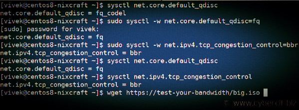TCP stack در centos8