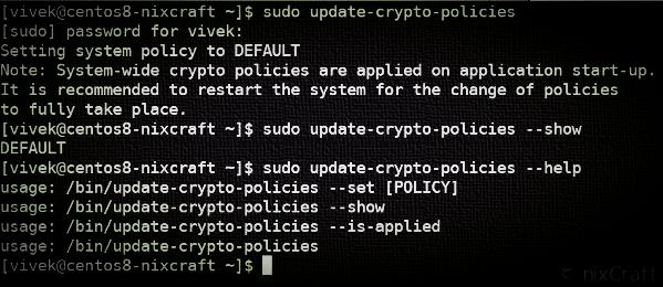 crypto policies